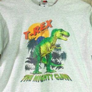 Vintage Single Stitch T Rex Graphic T Shirt Size S